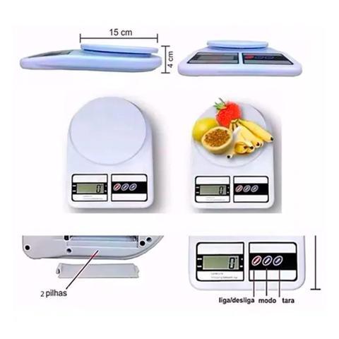 Imagem de Balança Cozinha Digital academia fitness 10kg para pesar alimentos Dieta Nutrição nutricionista comida