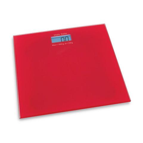 Imagem de Balança De Banheiro Vermelha