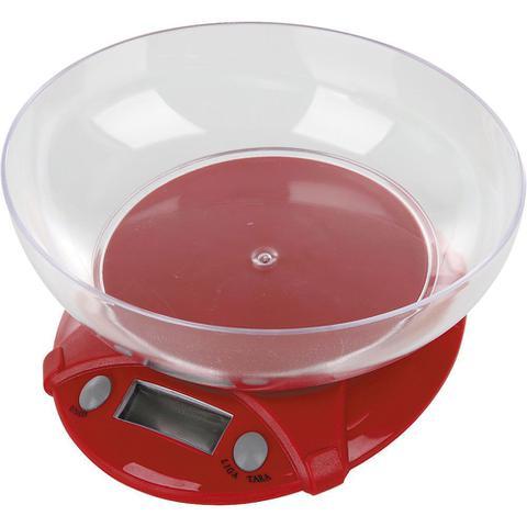 Imagem de Balança de Cozinha 7Kg Digital Casa do Chef Vermelha