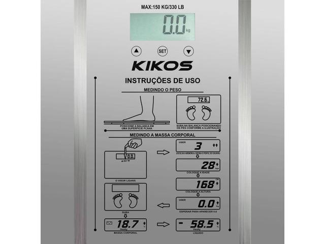Imagem de Balança Digital 150kg com Medidor de Gordura