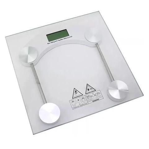 Imagem de Balança Digital Banheiro Precisão Vidro Temperado Até 180 KG