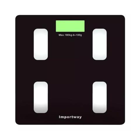 Imagem de Balança Digital Bioimpedância Com Aplicativo Bluetooth 180kg Importway IWBDBIO001APP
