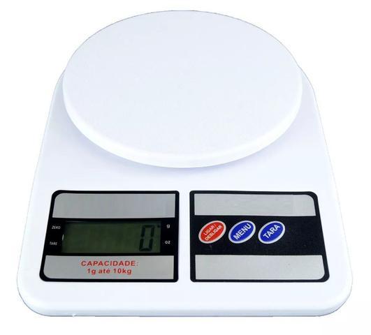 Imagem de Balança Digital Cozinha 10kg Alimentos Academia Medir Porção