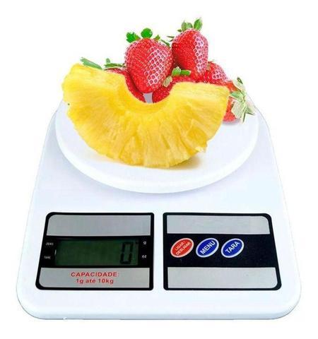 Imagem de Balança Digital cozinha  ate 10kg pesar alimento com incluso pilha academia fitness comida dieta nutricionista