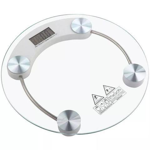 Imagem de Balança Digital De Banheiro 180 Kg Vidro Temperado Residencial, Academia Ou Clinica