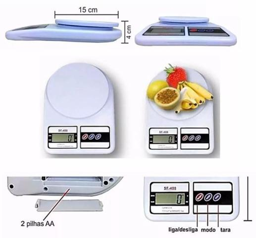 Imagem de Balança Digital De Cozinha Sf400 - Ate 10kg - Branca - Importado