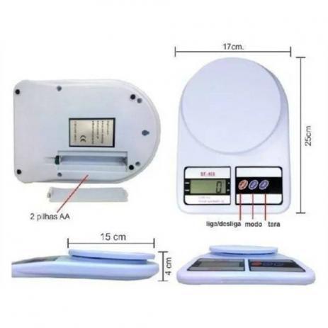 Imagem de Balança Digital Eletrônica De Precisão Sf-400 Até 10kg Cozinha