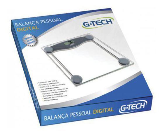 Imagem de Balança Digital P/ Banheiro Transparente G-tech Glass 10