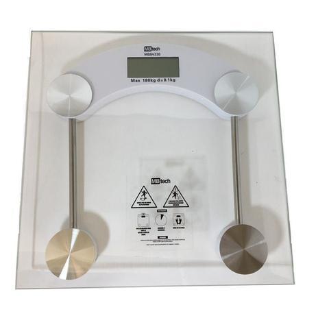 Imagem de Balanca Digital Quadrada 180kg Eletronica LCD Em Vidro Temperado Banheiro Academia