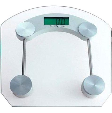 Imagem de Balança Digital Quadrada De Banheiro 180kg Vidro Temperado