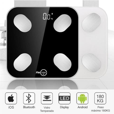 Imagem de Balança Digital Smart Corporal Com Bioimpedância APP Android/IOS Preto -  FlexInter