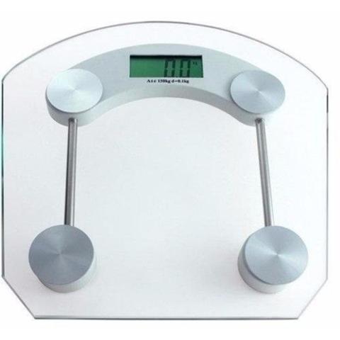 Imagem de Balança Digital Vidro Temperado 180kg Banheiro Academia