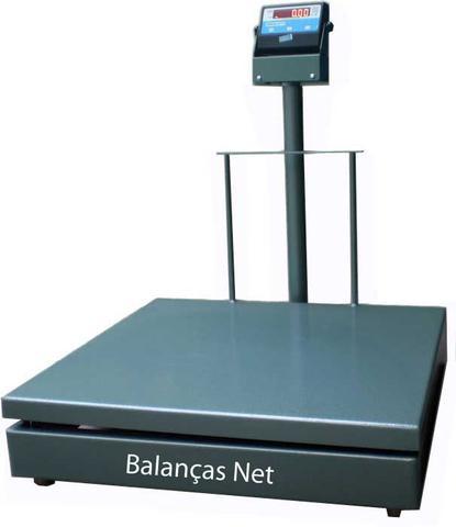 Imagem de Balança Eletromecânica Digital 300kg x 100g Plataforma 60x70 Com Coluna Inmetro