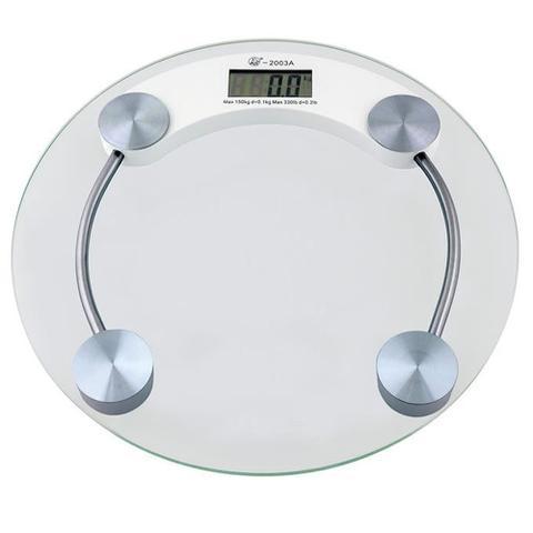Imagem de Balança Eletrônica Digital 180 kgs 2003-A Vidro Temperado - BLBQ-153 Redonda