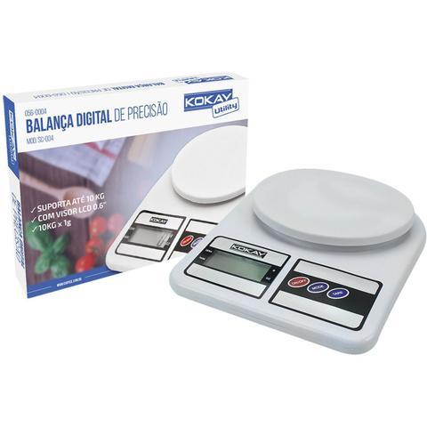 Imagem de Balanca Eletronica Precisao Digital Ate 10Kg Bco  Santana Centro