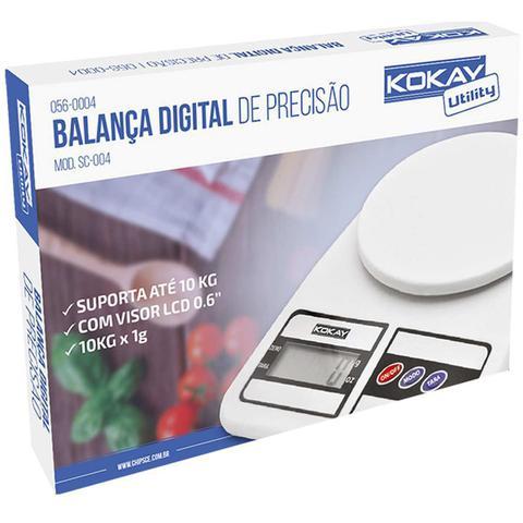 Imagem de Balanca eletronica precisao digital ate 10kg bco unidade