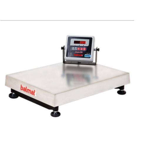 Imagem de Balanca Industrial Eletronica 300Kg Inox Com Visor Movel e Bateria BK300I1B Balmak
