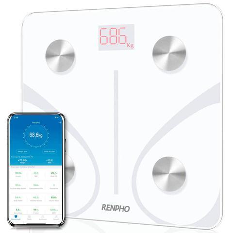 Imagem de Balança Inteligente Bioimpedância Bluetooth Branca RENPHO TOPSELLER