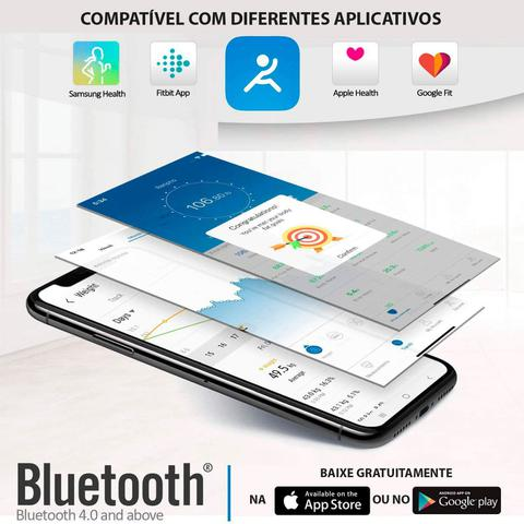 Imagem de Balança Inteligente Bioimpedância Bluetooth Renpho com USB - Topseller