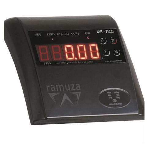 Imagem de Balança Plataforma Digital Comercial Industrial 150kg/50g - Selo Inmetro - DP 150 - Ramuza