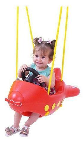 Imagem de Balanço Infantil Avião Vermelho Xalingo Com Cordas E Ganchos