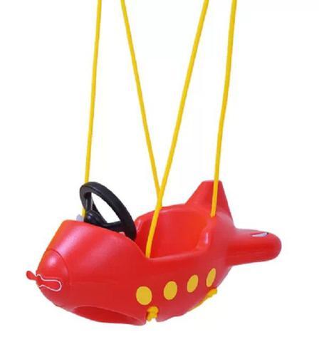 Imagem de Balanço Infantil Criança Avião vermelho Encaixa As Pernas