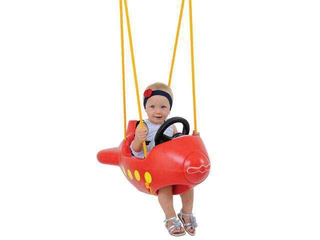 Imagem de Balanço Infantil Playground Avião Vermelho
