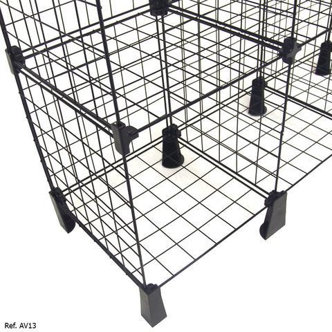 Imagem de Balcão Aramado com Tampo de Vidro - 1,50 x 1,00 x 0,30