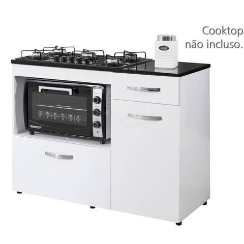 Imagem de Balcão Cooktop Violeta Basculante Branco - Kaiki Móveis