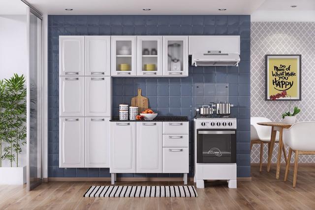 Imagem de Balcão Cozinha Itatiaia Luce 2 Portas 3 Gavetas Branco IG3G2-105