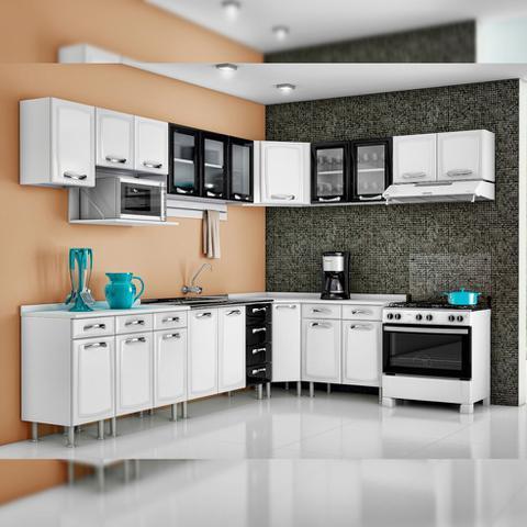 Imagem de Balcão Cozinha Itatiaia Premium 3 Portas 3 Gavetas Branco IG3GD-120