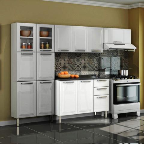 Imagem de Balcão Cozinha Itatiaia Tarsila 3 Portas 2 Gavetas com Pia Branco IG3G2-120