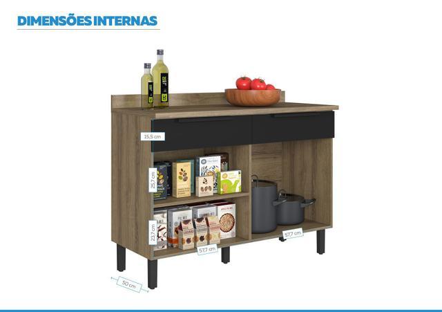 Imagem de Balcão Cozinhas Itatiaia Itamaxi - 2 Portas e 2 Gavetas - Preto