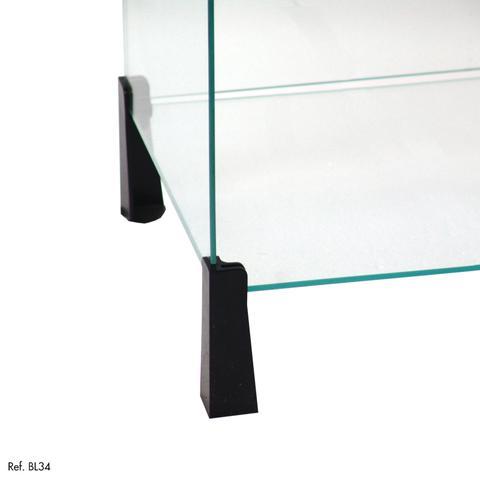 Imagem de Balcão de Atendimento L Modulado em Vidro 2,00 x 1,10 x 1,00