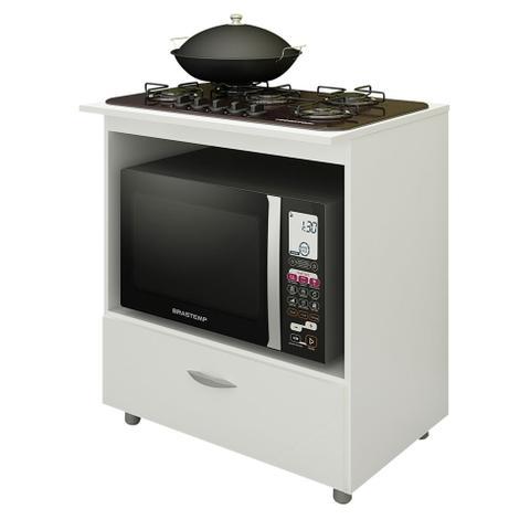 Imagem de Balcão de Cozinha Lívia para Cooktop 5 Bocas 1 PT Branco