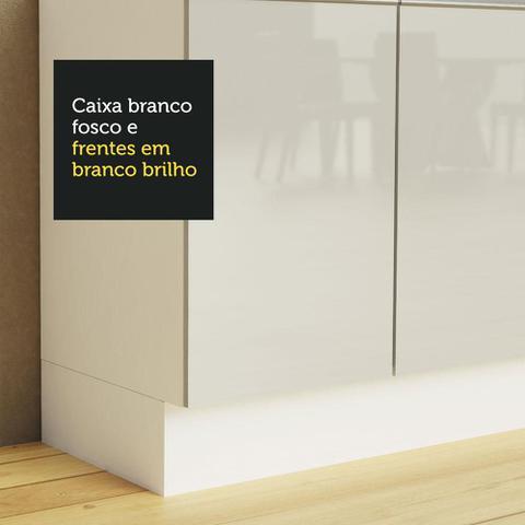 Imagem de Balcão Gabinete de Pia Madesa Acordes 100% MDF 120 cm 3 Portas e 2 Gavetas - Portas Branco Brilho