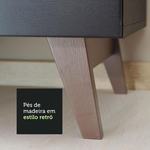 Imagem de Balcão Gabinete de Pia Madesa Reims 2 Portas e 1 Gaveta - Preto