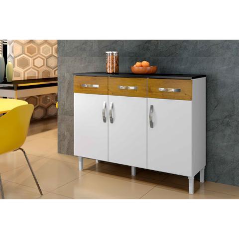 Imagem de Balcão Max Armário para Cozinha Área de Serviço Branco Novo