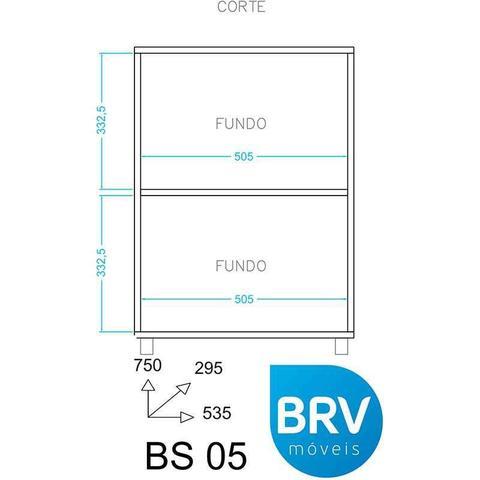 Imagem de Balcão Multiuso com 2 Portas BS 05 - BRV Móveis