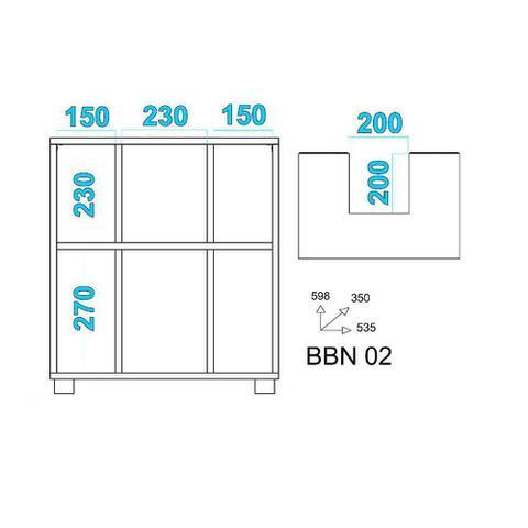 Imagem de Balcão para Banheiro 53,5cm Encaixe Pia Basculante BBN 02 BRV Móveis