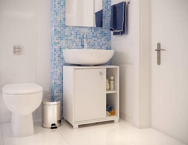 Imagem de Balcão Para Banheiro Bbn 01-06 Branco BRV Móveis