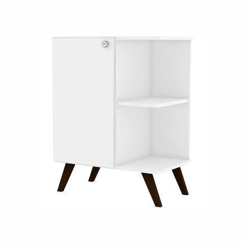 Imagem de Balcão para Banheiro Retrô com 1 Porta Branco Movelbento