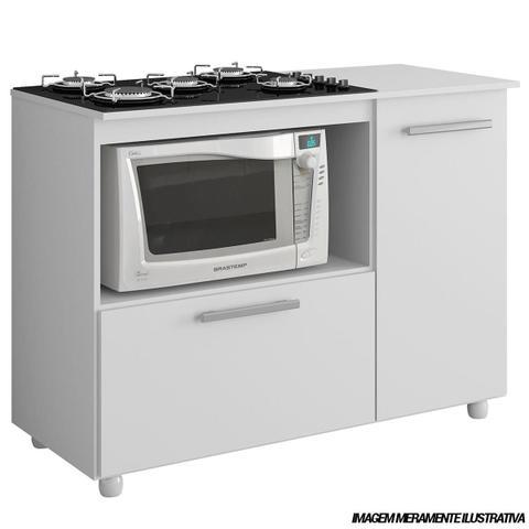 Imagem de Balcão Para Cook 5006 Top 5 Bocas Branco Premium Multimóveis