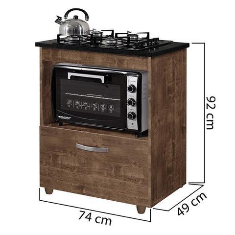 Imagem de Balcão para Cooktop 1 Porta Basculante Salvia Kaiki Móveis Ipê
