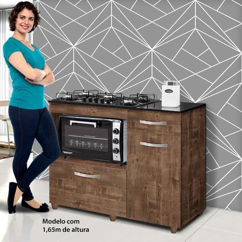 Imagem de Balcão para Cooktop e Forno 2 Portas 1 Gaveta Clara Siena Móveis Ipê