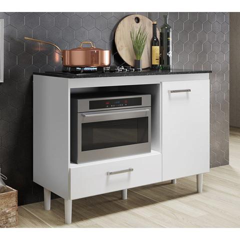 Imagem de Balcão para Cooktop e Forno Fit 2954 Branco Nicioli