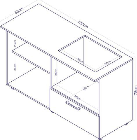 Imagem de Balcão para cooktop e Microondas Branco BL 210 - Completa Móveis