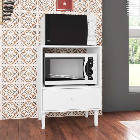 Imagem de Balcão Para Forno 1 Gavetão Branco Montevidéu Art In Móveis