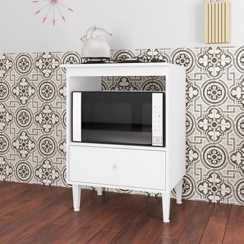Imagem de Balcão Para Forno E Cooktop 1 Gaveta Branco Dubai Art in Móveis