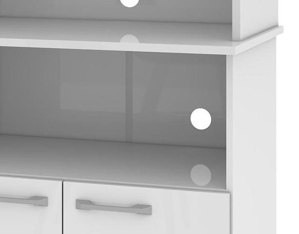 Imagem de Balcão para Forno e Microondas Cuca Branco - Mirarack